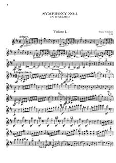 Симфония No.1 ре мажор, D.82: Скрипка I by Франц Шуберт