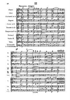 Симфония No.1 ре мажор, D.82: Часть III by Франц Шуберт