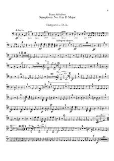 Симфония No.1 ре мажор, D.82: Партия литавр by Франц Шуберт