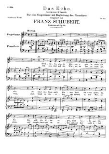 Das Echo (The Echo), D.868 Op.130: Для высокого голоса и фортепиано by Франц Шуберт