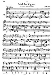 No.4 Песнь Миньоны: Ми минор by Франц Шуберт