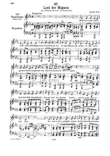 No.2 Песнь Миньоны: До минор by Франц Шуберт