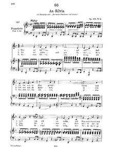 К Сильвии, D.891 Op.106 No.4: Для низкого голоса и фортепиано by Франц Шуберт