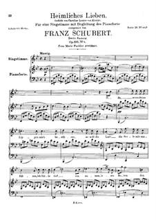 Heimliches Lieben (Secret Love), D.922 Op.106 No.1: Вторая версия by Франц Шуберт