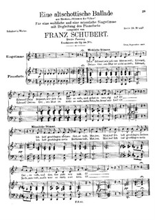 An Old Scottish Ballad, D.923 Op.165 No.5: Вторая редакция by Франц Шуберт