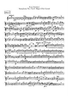 Симфония No.9 до мажор 'Большая', D.944: Партии гобоев by Франц Шуберт