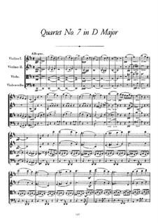 Струнный квартет No.7 ре мажор, D.94: Партитура by Франц Шуберт