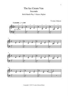 The Ice Cream Van - A Level 1 Piano Duet: The Ice Cream Van - A Level 1 Piano Duet by Yvonne Johnson