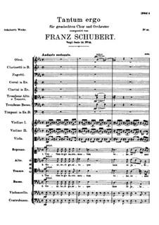 Tantum ergo in E Flat Major, D.962: Партитура by Франц Шуберт