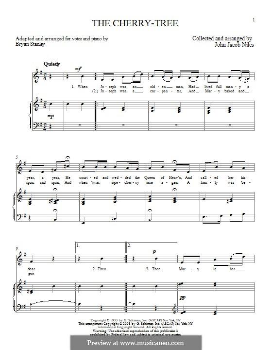 The Cherry-Tree: Для голоса и фортепиано by Bryan Stanley