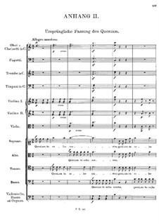 Месса No.1 фа мажор, D.105: Quoniam tu solus sanctus (Appendix II) by Франц Шуберт