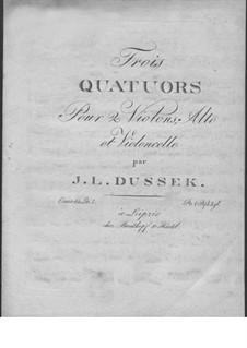Три струнных квартета, Op.60: No.1 соль мажор, Craw 208 by Ян Ладислав Дуссек