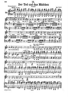 Девушка и смерть, D.531 Op.7 No.3: Клавир с вокальной партией by Франц Шуберт