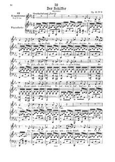 Лодочник, D.536 Op.21 No.2: Для низкого голоса и фортепиано by Франц Шуберт