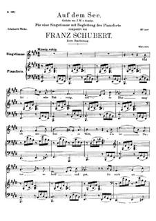 На озере, D.543 Op.92 No.2: Ми мажор by Франц Шуберт