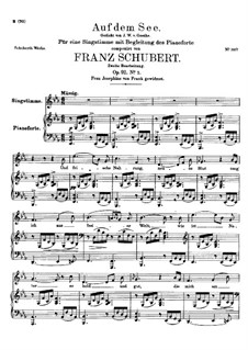 На озере, D.543 Op.92 No.2: Ми-бемоль мажор by Франц Шуберт
