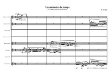 Un mémoire du temps, for 2 players and a lot of clarinets and recorders, MVWV 841: Un mémoire du temps, for 2 players and a lot of clarinets and recorders by Maurice Verheul
