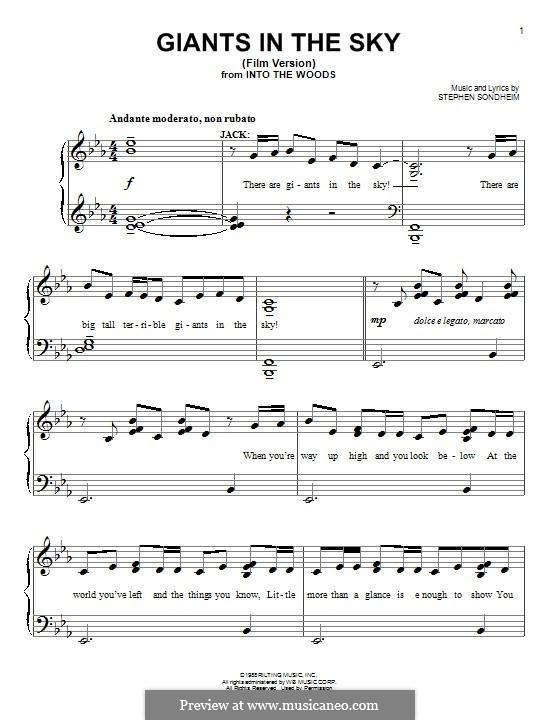 Giants in the Sky: Для фортепиано by Stephen Sondheim