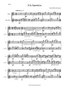 A la japonaise: For flute and alto flute by Дэвид Соломонс