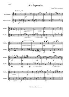 A la japonaise: For alto recorder and tenor recorder by Дэвид Соломонс