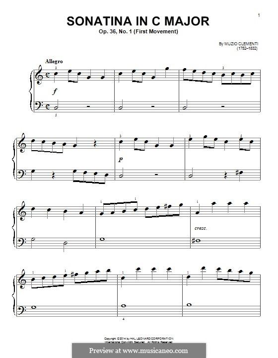 Сонатина No.1: Для фортепиано by Муцио Клементи