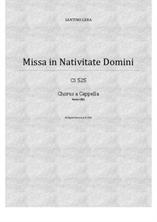 Missa in Nativitate Domini, CS525: No.1 Dóminus dixit ad me, for alto and bass soloists and SABrB choir a cappella by Santino Cara