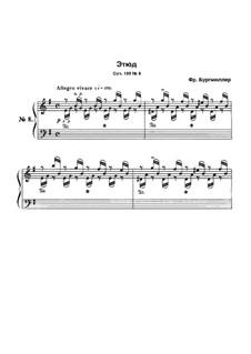 Этюд No.8: Для фортепиано by Иоганн Фридрих Бургмюллер