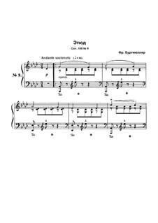 Этюд No.9: Для фортепиано by Иоганн Фридрих Бургмюллер