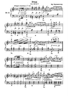 Этюд No.17: Для фортепиано by Иоганн Фридрих Бургмюллер