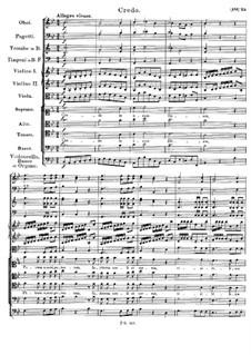 Месса No.3 си-бемоль мажор, D.324 Op.141: Credo by Франц Шуберт