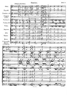 Месса No.3 си-бемоль мажор, D.324 Op.141: Sanctus by Франц Шуберт