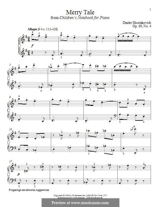Merry Tale: Для фортепиано by Дмитрий Шостакович
