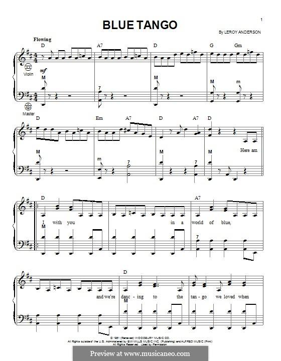 Blue Tango (Bill Black's Combo): Для аккордеона by Лерой Андерсон
