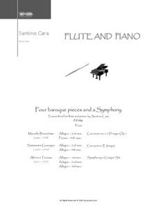 Baroque pieces and Symphony: Для флейты и фортепиано, CS1.124 by Томазо Альбинони, Джузеппе Саммартини, Бенедетто Марчелло