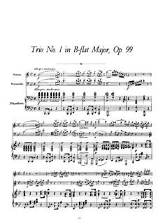 Фортепианное трио No.1 си-бемоль мажор, D.898 Op.99: Партитура by Франц Шуберт