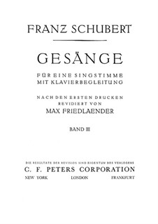 Песни для голоса и фортепиано: Том III, часть I by Франц Шуберт