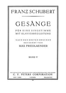 Песни для голоса и фортепиано: Том V, часть I by Франц Шуберт