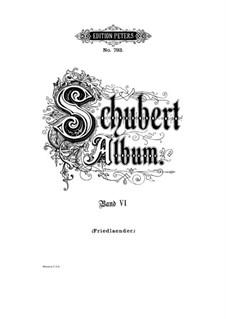 Песни для голоса и фортепиано: Том VI, часть I by Франц Шуберт