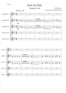 Deck The Halls: For trumpet quintet by Unknown (works before 1850)