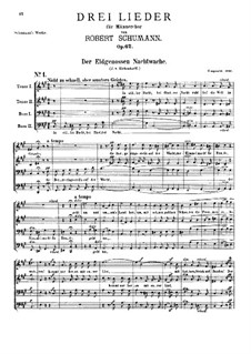 Три песни, Op.62: Сборник by Роберт Шуман