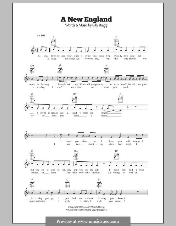 A New England: Для укулеле by Billy Bragg