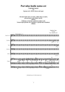 Parvulus hodie natus est - Christmas motet for Soprano, mixed choir and organ, CS526: Parvulus hodie natus est - Christmas motet for Soprano, mixed choir and organ by Santino Cara