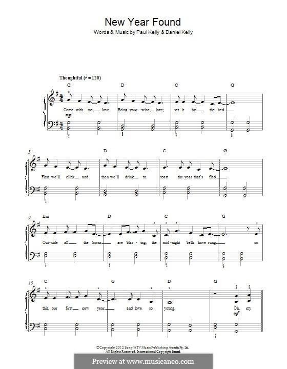 New Found Year: Для фортепиано by Paul Kelly, Daniel Kelly