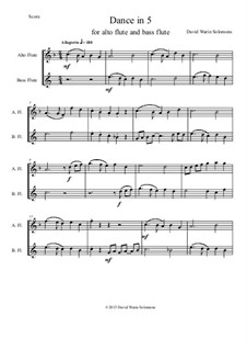 Dance in 5: For alto and bass flutes by Дэвид Соломонс