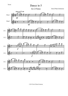 Dance in 5: Для двух флейт by Дэвид Соломонс