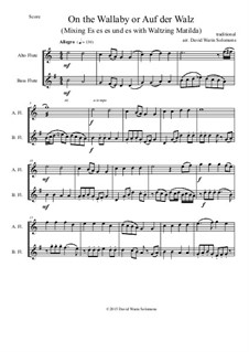 On the Wallaby (or Auf der Walz): For alto and bass flutes by folklore