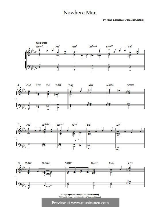 Nowhere Man (The Beatles): Для фортепиано by John Lennon, Paul McCartney