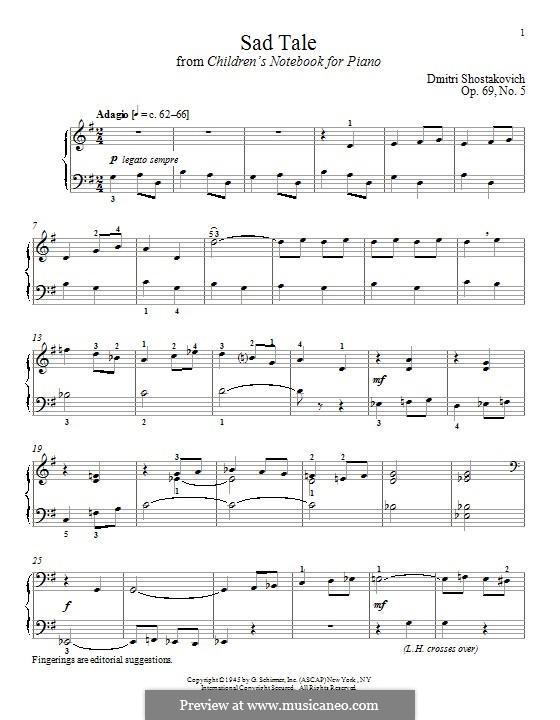 Sad Tale: Для фортепиано by Дмитрий Шостакович