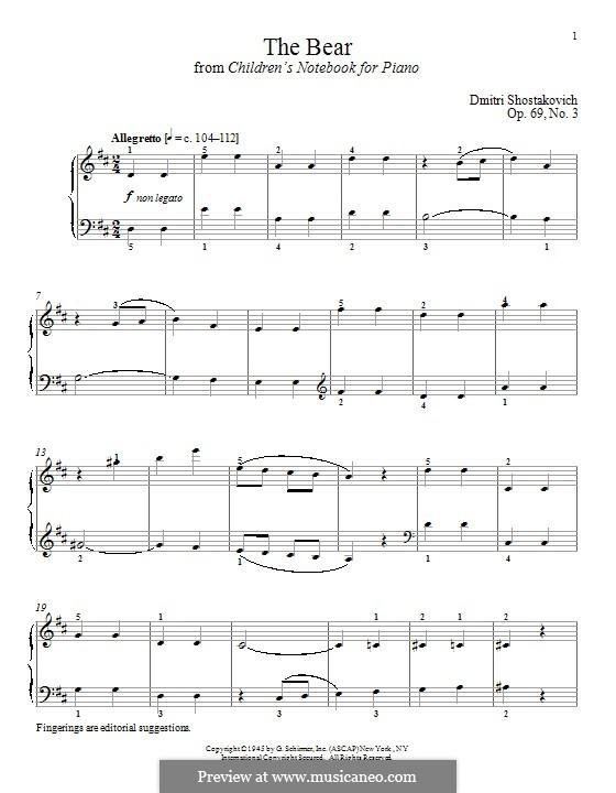The Bear: Для фортепиано by Дмитрий Шостакович