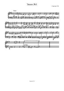 Эскиз No.1, Op.1: Эскиз No.1 by Сергей Васильевич Сергеев